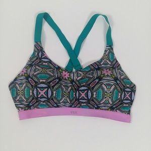 Victoria's Secret VSX multi color print sports bra